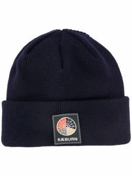 Raeburn шапка бини в рубчик с нашивкой-логотипом RU62009SI20WC400AW20