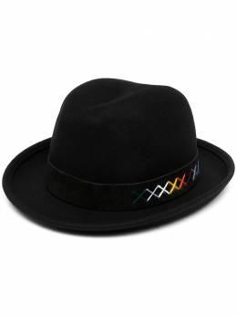 Paul Smith шляпа-федора с декоративной строчкой M1A477FEH584