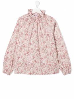 Il Gufo блузка с цветочным принтом и оборками A20CL194C4064T339