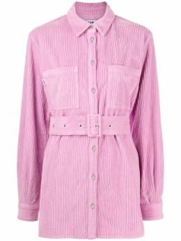 MSGM вельветовая куртка-рубашка с поясом 2942MDE141T207982