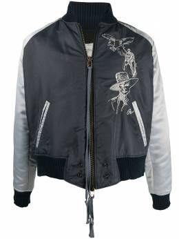 Greg Lauren куртка-бомбер California с вышивкой AM121