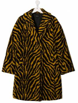 Monnalisa двубортное пальто с тигровым принтом 4161096510