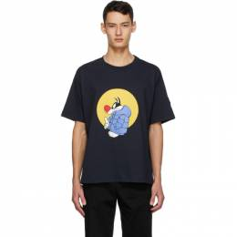 Moncler Genius 1 Moncler JW Anderson Navy Looney Tunes Edition Sylvester T-Shirt F209E8C70210V8194