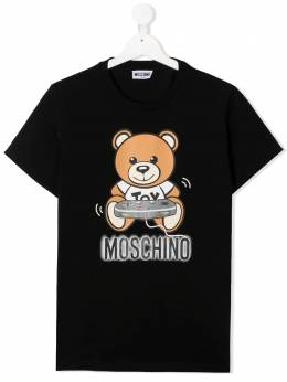 Moschino Kids футболка Gamer Teddy Bear HQM02SLBA12