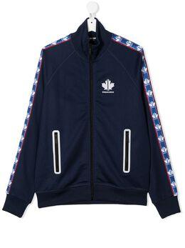 Dsquared2 Kids спортивная куртка с контрастными полосками и логотипом DQ049KD00X5