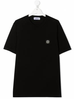 Stone Island Junior футболка с нашивкой-логотипом 731620147