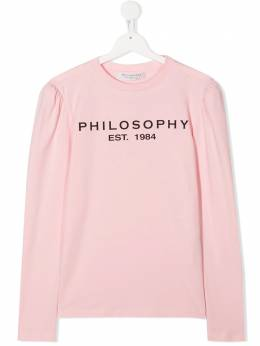 Philosophy Di Lorenzo Serafini Kids футболка с логотипом PJTS44JE95BZH010T0093