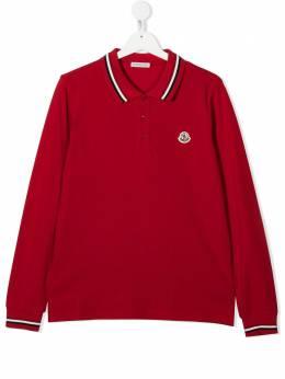 Moncler Kids рубашка поло с нашивкой-логотипом F29548B702208496W
