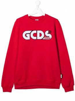 GCDS Kids толстовка с круглым вырезом и логотипом 025744