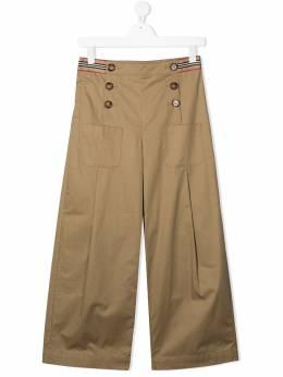 Burberry Kids расклешенные брюки Tracey 8030320