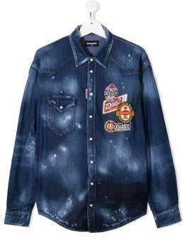 Dsquared2 Kids джинсовые шорты с эффектом потертости DQ047MD001P