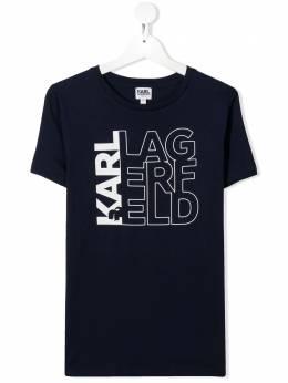 Karl Lagerfeld Kids футболка с логотипом Z2525385T