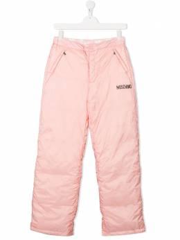 Moschino Kids лыжные брюки с логотипом HUP04BL3A22