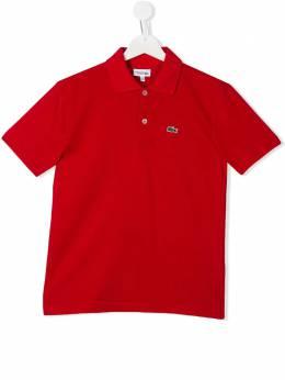 Lacoste Kids рубашка-поло с нашивкой-логотипом L183000240