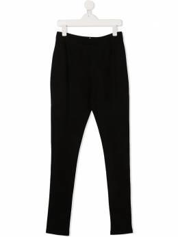 Karl Lagerfeld Kids брюки скинни с логотипом Z14130