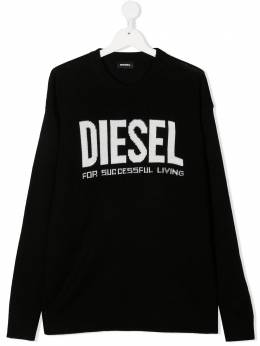 Diesel Kids джемпер с логотипом вязки интарсия 00J4Z9TKYAPY