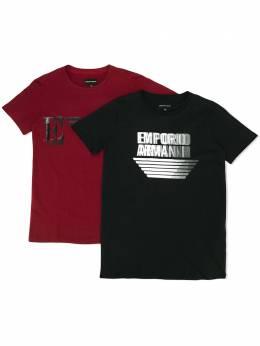 Emporio Armani Kids футболка с логотипом 6H4D224J09Z