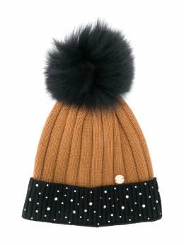 Miss Blumarine шапка бини с помпоном и логотипом MBL3181