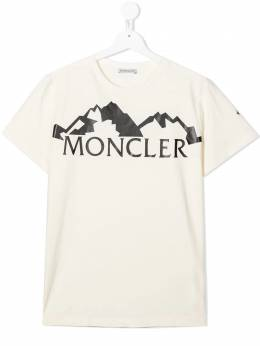 Moncler Kids футболка с логотипом F29548C7282083092