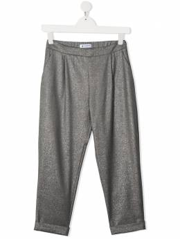Dondup Kids брюки прямого кроя с блестками YP340TY0068G