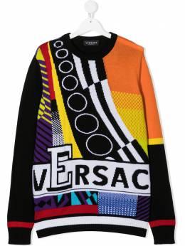 Young Versace джемпер с логотипом YD000272A236528