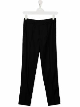 MSGM Kids спортивные брюки с нашивкой-логотипом 025282