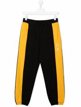 No.21 Kids спортивные брюки в стиле колор-блок N214CQN0005N21P49MT