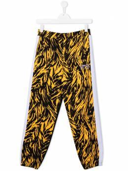 No.21 Kids брюки в стиле колор-блок с зебровым принтом N214BRN0091N21P43FT