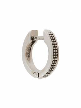 Emanuele Bicocchi фактурная серьга-кольцо DTE1