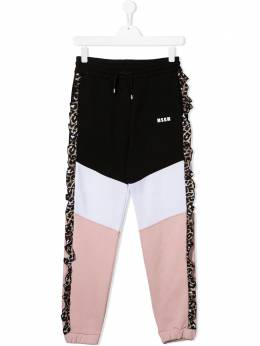MSGM Kids спортивные брюки в стиле колор-блок 025094T