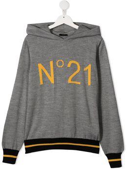 No.21 Kids худи вязки интарсия с логотипом N214DQN0122