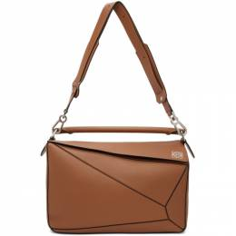 Loewe Brown Large Puzzle Edge Messenger Bag B510S19X13
