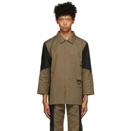 Affix Tan and Black Duo-Tone Work Shirt AW20T03