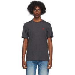 Ami Alexandre Mattiussi Grey Ami De Coeur T-Shirt H20HJ108.723