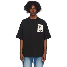 Ami Alexandre Mattiussi Black Anniversary Face Patch T-Shirt H20HJ146.726