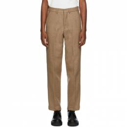 Ami Alexandre Mattiussi Beige Straight-Fit Trousers H20HT007.224