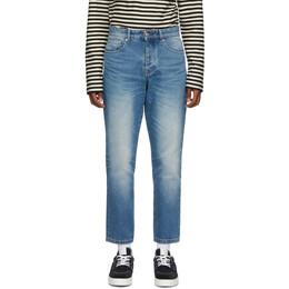 Ami Alexandre Mattiussi Blue Tapered Fit Jeans H20HD204.601