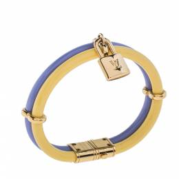 Louis Vuitton Vernis Leather Keep It Twice Gold Tone Bracelet 334870