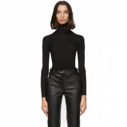 Salvatore Ferragamo Black Filo Sweater 0735137