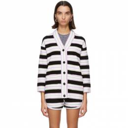 Fendi Multicolor Terrycloth Striped Cardigan FZC828 AD5N F0GME