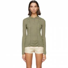 Jacquemus Green Wool La Maille Baho Polo 203KN24-203 226560