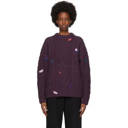 Ader Error Purple Knit Stain Sweater BTAFWLK19PP