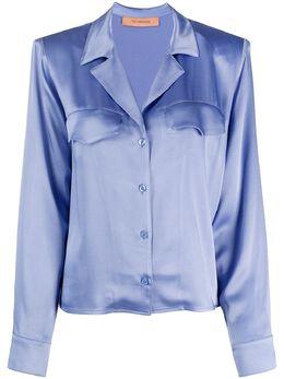 Andamane рубашка с косым воротником L02C6451219