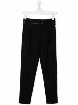 John Richmond Junior брюки кроя слим с поясом RGA20195PAHB