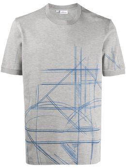 Brioni футболка с абстрактным принтом UJ2B0LP5626