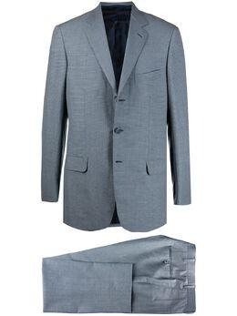 Brioni костюм с однобортным пиджаком в клетку гингем RA300MP