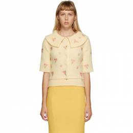 Moschino Yellow Floral Embroidered Cardigan 0910 5403