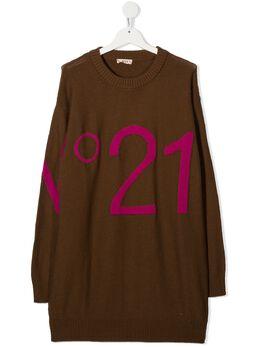 No.21 Kids трикотажное платье с логотипом N214C9N0121