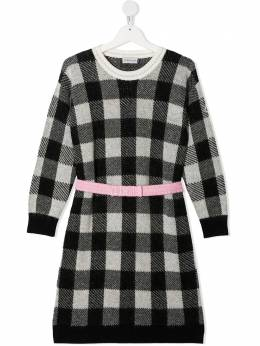 Moncler Kids платье в клетку F29549I70310A9472