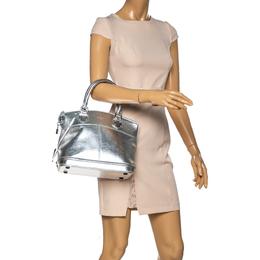 Louis Vuitton Metallic Silver Suhali Leather Lockit PM Bag 334137